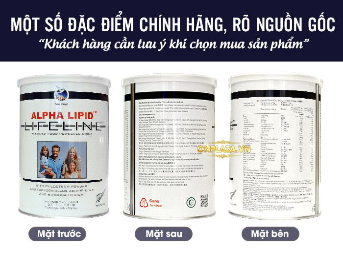 Sữa Non Alpha Lipid Life Line New Zealand 450g 1