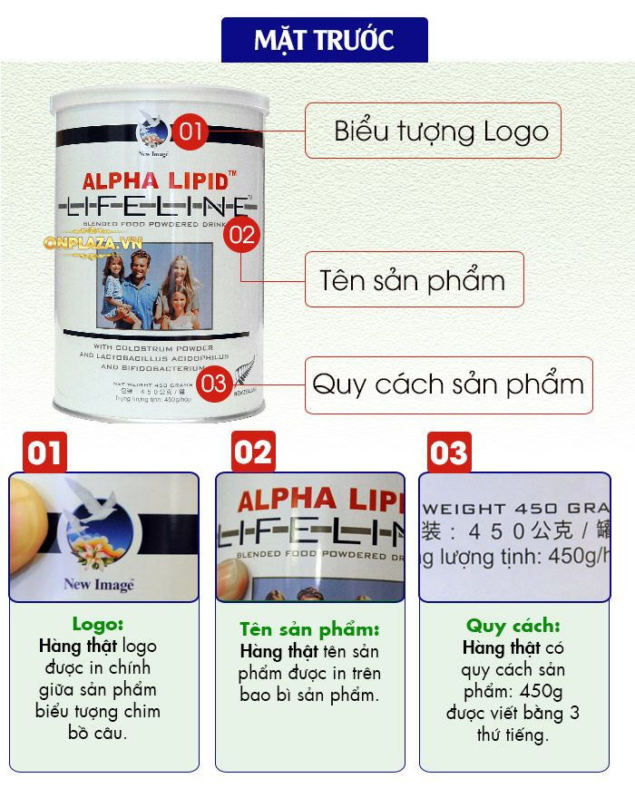 Sữa Non Alpha Lipid Life Line New Zealand 450g 2